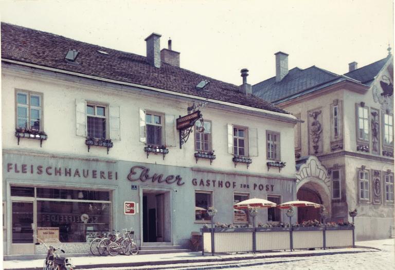 Fasade Fleischerei 90er_2 Hotel zur Post Melk